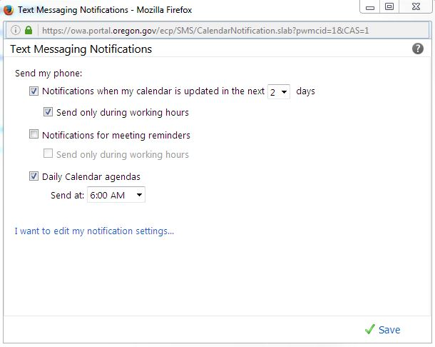 how to - outlook notifications 3